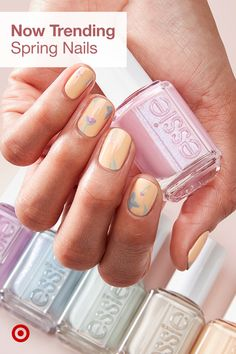 Spring into pastel nail art! Shop Target for spring nail polish to create a mani that's very in season. Bright Summer Acrylic Nails, Best Acrylic Nails, Pastel Nails, Acrylic Tips, Square Nail Designs, Pretty Nail Designs, Perfect Nails, Gorgeous Nails, Art D'ongles Pastel
