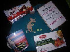 Toukokuun yleisrinki - RUUSUTARHA-muki, Nipsu-body, suklaata, teetä ja kortti. :) <3
