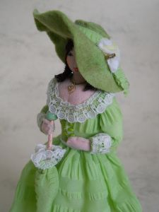 Summer Green  Doll, this blog site is all about peg dolls their history and modern ones too worth a visit