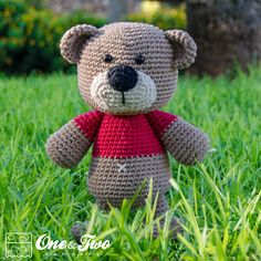 Teddy Sweet Hugs Amigurumi - PDF Crochet Pattern - Instant Download - Doll Crochet Animal Cuddy Stuff Plush by oneandtwocompany on Etsy https://www.etsy.com/listing/152793927/teddy-sweet-hugs-amigurumi-pdf-crochet