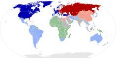mappa mondiale 1960