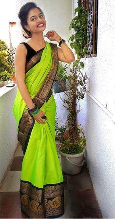 Indian Sarees, Silk Sarees, Girl Photos, Feminine, Sari, Womens Fashion, How To Wear, Beauty, Beautiful