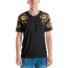 Limited T-Shirt - Golden Dragon - Your Mind Is Your Limit Models, Dragon, Fitness, Mens Tops, Clothes, Collection, Fashion, Templates, Outfits