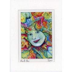 Rainbow Greenwoman Green Woman Forest Goddess Print by dolphindaze, $10.00
