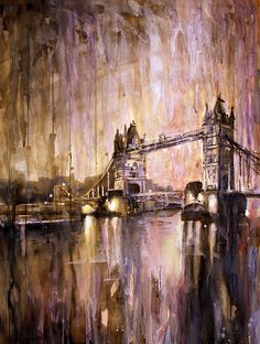 Watercolor painting of Tower Bridge- London, England | by rfoxphoto