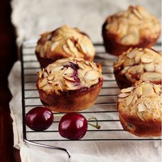 cherry almond muffins.  i'm making these soon...