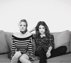 Anna Kendrick  Brittany Snow. Their characters in Pitch Perfect should've been love interests :P