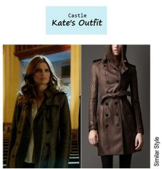 """On the blog: Kate Beckett's (Stana Katic) quilted leather trench coat 