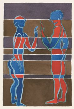 © Barbara Nessim, 1997. Pen and ink and watercolor on paper, 6 x 9 inches.