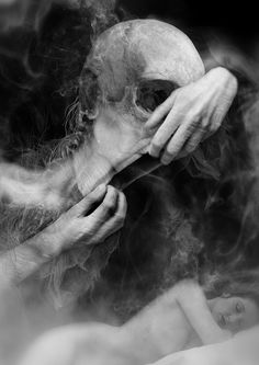 The art of Dan Verkys Creepy Images, Creepy Art, Scary, Scream, Art Of Dan, Dark Art Photography, Totenkopf Tattoos, Horror Monsters, Macabre Art
