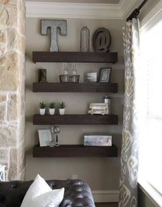Pallet wood is the most useful item that helps you construct or decorate anything you want. Making use of pallet wood to make shelves in a living room is an amazing idea.