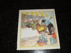 Vintage children's book illustration   mice at door pureplusproducts, $10,00