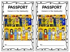Career Day Passport Booklet freee