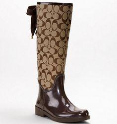 e1b5779e43b15 The perfect boots for  fall.  coach Coach Rain Boots