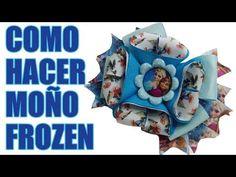 Como Hacer Lindo y hermoso Moño de Frozen, how to make a frozen Tie - YouTube