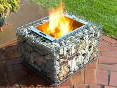 Caged Rock is a new company supplying high quality gabion solutions for landscap. Caged Rock is a Yard Design, Fence Design, Gabion Wall Design, Gabion Baskets, Fire Pit Landscaping, Landscaping Ideas, Backyard Fireplace, Fire Pit Designs, Outdoor Fire