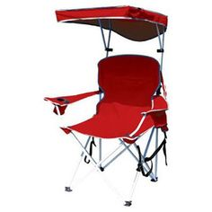Bravo Sports 149578 Four Seasons Courtyard Shade Chair with Canopy and Carry Case, Red Polyester – Alvino – Your friendly gift store Camping Furniture, Lawn Furniture, Couch Furniture, Camping Chairs, Outdoor Furniture, Beach Chairs, Patio Chairs, Beach Shade, Camping With Toddlers