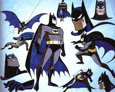 Batman models, by Bruce Timm Bruce Timm, Batman Tattoo, Comic Kunst, Comic Art, Comic Books, I Am Batman, Batman Comics, Gotham Batman, Batman Robin