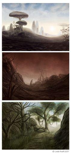 Morrowind Speedpaintings by Isriana - #skyrim #landscape #scenery