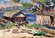 Hope Santeri Salokivi (Turku, September 1886 - Helsinki, March was a Finnish painter and art teacher, known for his Impressionist style of landscapes. Salokivi was also a graphic artist. Chur, Clarence Gagnon, Prinz Eugen, Modern Artists, Helsinki, Artist Painting, Artsy, Landscape, Sheds
