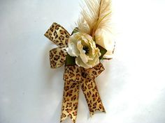 Leopard birthday gift bow Female gift bow Special celebration gift bow Masculine gift bow Gift wrap bow Anniversary gift bow (GN110) (8.00 USD) by JDsBowCreations