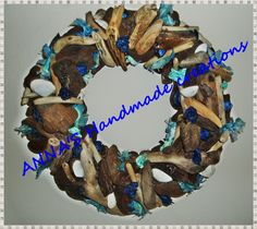 handmade wreath,from driftwood