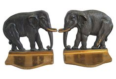 1920s Cast Bronze Bookends