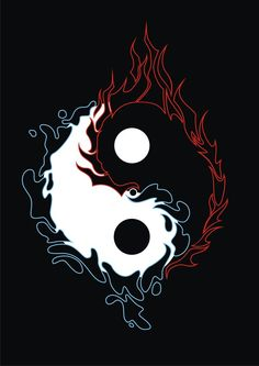 a yin yang design with fire and water element around it. Originally drawn manually then trace it using CorelDraw. At first it was designed for a tattoo design purpose but after it& done I think ma. Yin Yang Designs, Fantasy Art, Ying Yang Tattoo, Yin Yang Art, Graffiti Wallpaper, Art, Anime Wallpaper, Art Wallpaper, Dark Fantasy Art