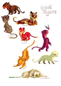 Drink Tigers by TastesLikeAnya.deviantart.com. Love these! the Caramel…