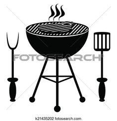 Deckenlampe clipart  Barbecue icon set View Large Clip Art Graphic | plowboys | Pinterest