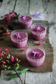 Davidson's plum panna cotta with charred finger lime