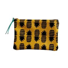 Fab.com | Wallet Pouch Yellow Pineapples