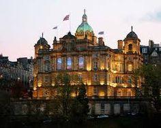 Balmoral Hotel near Edinburgh Castle.
