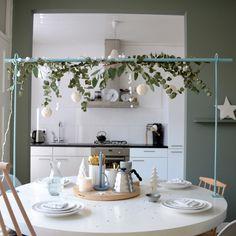 Kersttafelstyling met de Toon Tafelklem via htpp://vanhetkastjenaardemuur.blogspot.nl