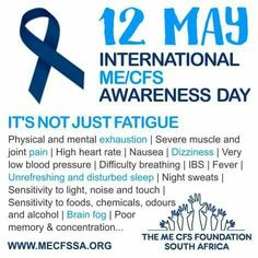 Myalgic encephalomyelitis awareness day ME symptoms CFS symptoms