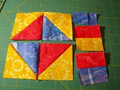 Lay out the fabric pieces in the desired pattern.