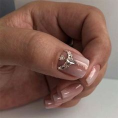 """Figure out even more info on """"acrylic nail art designs ring finger"""". Have a look at our internet site. Swarovski Nails, Crystal Nails, Rhinestone Nails, Bling Nails, Sparkle Nails, Fabulous Nails, Gorgeous Nails, Nail Crystal Designs, Diamond Nail Art"""