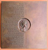 Gedenktafel für die Schriftstellerin und Salonnière Rahel Varnhagen von Ense in Berlin. (1771-1833) Memorial plaque to the writer and Salonnière Rahel Varnhagen in Berlin.