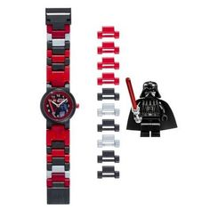 LEGO Kids' 8020301 Star Wars Darth Vader Plastic Watch with Link Bracelet and Character Figurine -