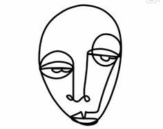 Art Inspo, Art Sketches, Art Drawings, Abstract Face Art, Arte Online, Art Et Illustration, Wire Art, Art Design, Line Drawing