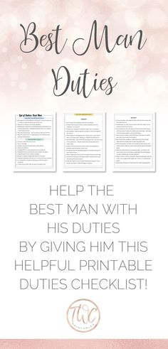 62 best man duties