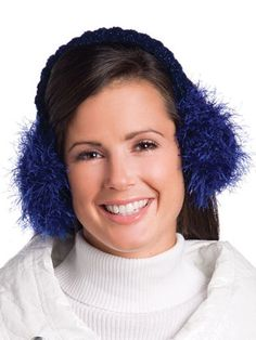 b3b679076c538 Seasonal Crochet - Winter Crochet Patterns - Free Crochet Pattern --  Earmuffs Easy Crochet Patterns