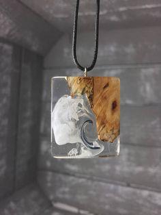 Madera resina/hecho a mano collar resina madera collar con