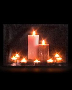 Candles & Tealights Lit Wall Canvas | Fifty Plus