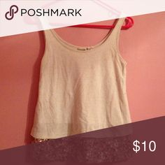 Mudd sz S tank top with sequin extender on bottom Size small cream color tank top with gold sequin bottom extender. Worn but great condition. Mudd Tops Tank Tops