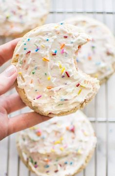 This homemade funfetti frosting recipe is perfect for icing cookies, cupcakes, or other sweet treats. It's wonderful for kids' birthday parties!