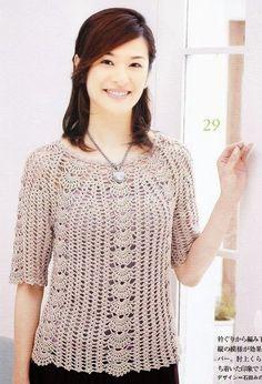 Blusa Colorida Plus Size - Receita e Gráfico