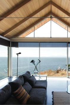 Cabin with floor-to-ceiling windows http://cottagelife.com/realestate/10-amazing-cabin-views-youll-want-to-trade-for-your-own?utm_content=bufferba281&utm_medium=social&utm_source=pinterest.com&utm_campaign=buffer