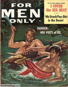 """""""You sleazy snake, don´t mess up w/ma man! or I´ll cut you out"""" Image from MENSPULPMAGS.COM D.R."""