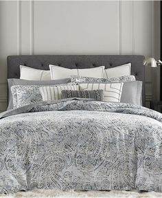 Transform any room into a tranquil modern space with the bold paisley and soothing washed-out styling of this Oak Bluff textured duvet cover set from Tommy Hilfiger. Textured Duvet Cover, Textured Bedding, Twin Comforter Sets, Bedding Sets, King Duvet, Queen Duvet, Paisley Bedding, Teal Bedding, Tommy Hilfiger